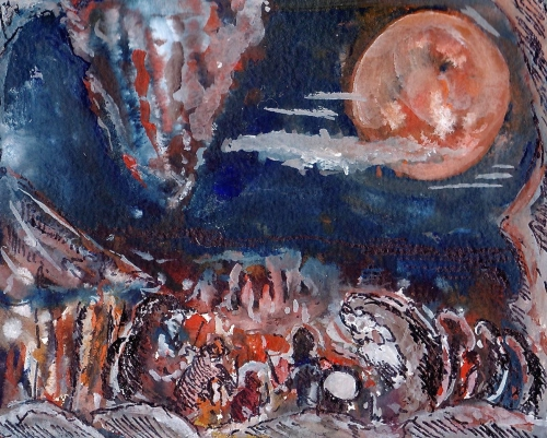 écriture,poésie,rêve,lune,peinture,humour,chamane,fantastique