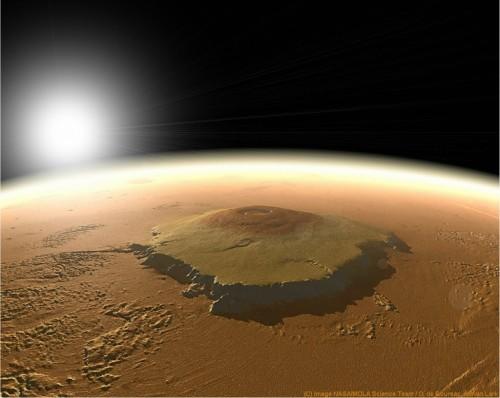 Mars, Olympus Mons, vu de l'espace.jpg